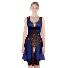 Christmas Volcano Racerback Midi Dress