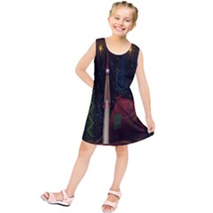 Christmas Xmas Bag Pattern Kids  Tunic Dress