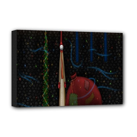 Christmas Xmas Bag Pattern Deluxe Canvas 18  x 12