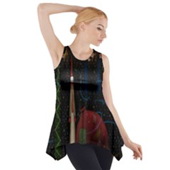 Christmas Xmas Bag Pattern Side Drop Tank Tunic