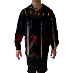 Christmas Xmas Bag Pattern Hooded Wind Breaker (Kids)