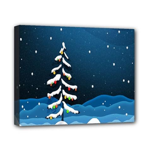 Christmas Xmas Fall Tree Canvas 10  x 8