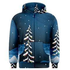 Christmas Xmas Fall Tree Men s Zipper Hoodie