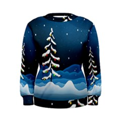 Christmas Xmas Fall Tree Women s Sweatshirt