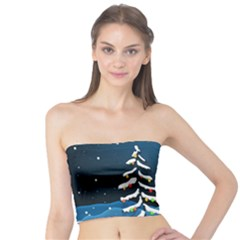 Christmas Xmas Fall Tree Tube Top