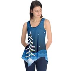 Christmas Xmas Fall Tree Sleeveless Tunic