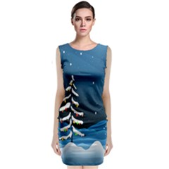 Christmas Xmas Fall Tree Classic Sleeveless Midi Dress