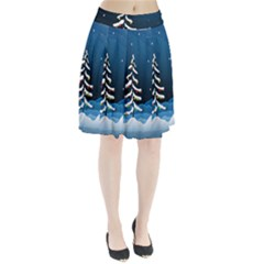 Christmas Xmas Fall Tree Pleated Skirt