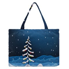 Christmas Xmas Fall Tree Medium Zipper Tote Bag