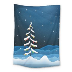 Christmas Xmas Fall Tree Medium Tapestry
