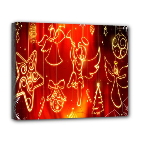 Christmas Widescreen Decoration Deluxe Canvas 20  X 16