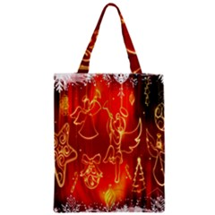 Christmas Widescreen Decoration Zipper Classic Tote Bag