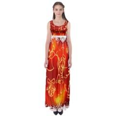 Christmas Widescreen Decoration Empire Waist Maxi Dress