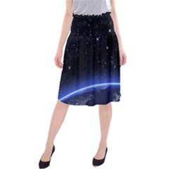 Christmas Xmas Night Pattern Midi Beach Skirt