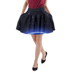 Christmas Xmas Night Pattern A-Line Pocket Skirt