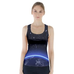 Christmas Xmas Night Pattern Racer Back Sports Top