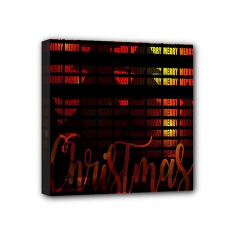 Christmas Advent Gloss Sparkle Mini Canvas 4  x 4