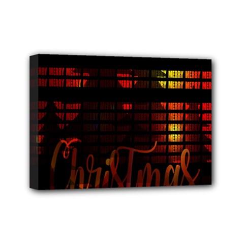 Christmas Advent Gloss Sparkle Mini Canvas 7  x 5