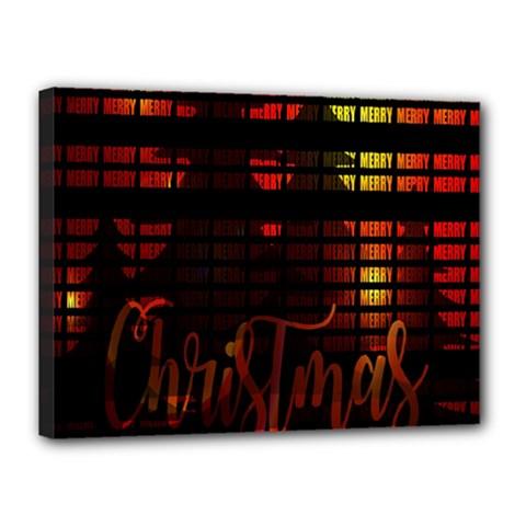 Christmas Advent Gloss Sparkle Canvas 16  x 12