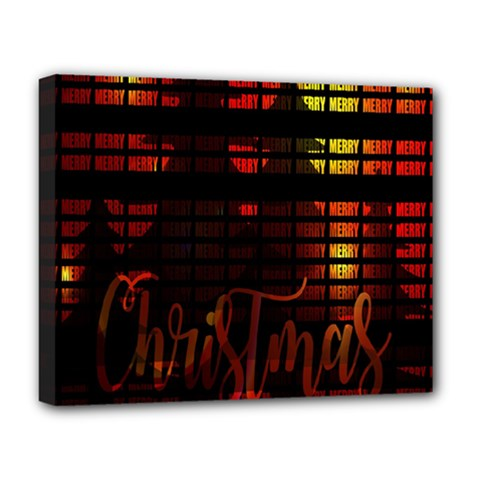 Christmas Advent Gloss Sparkle Deluxe Canvas 20  x 16