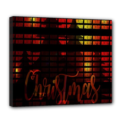 Christmas Advent Gloss Sparkle Deluxe Canvas 24  x 20
