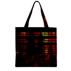 Christmas Advent Gloss Sparkle Zipper Grocery Tote Bag