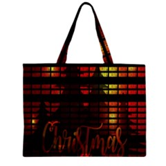 Christmas Advent Gloss Sparkle Zipper Large Tote Bag