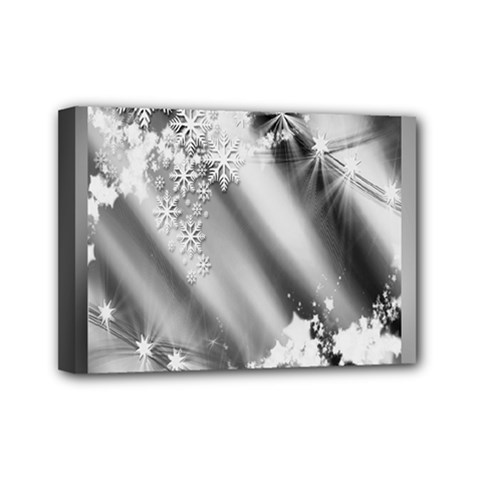 Christmas Background  Mini Canvas 7  x 5