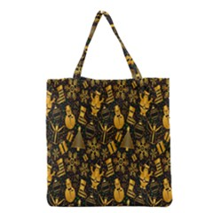 Christmas Background Grocery Tote Bag