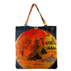 Christmas Bauble Grocery Tote Bag