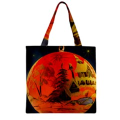 Christmas Bauble Zipper Grocery Tote Bag