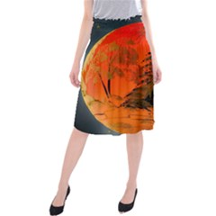 Christmas Bauble Midi Beach Skirt