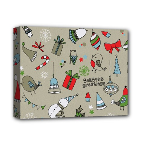 Christmas Xmas Pattern Deluxe Canvas 14  x 11