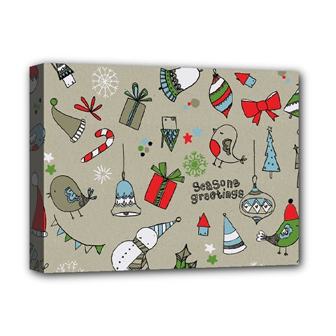 Christmas Xmas Pattern Deluxe Canvas 16  x 12