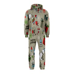 Christmas Xmas Pattern Hooded Jumpsuit (Kids)
