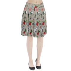 Christmas Xmas Pattern Pleated Skirt