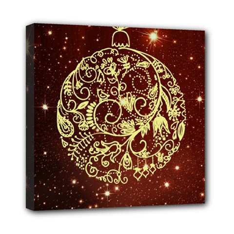 Christmas Bauble Mini Canvas 8  X 8