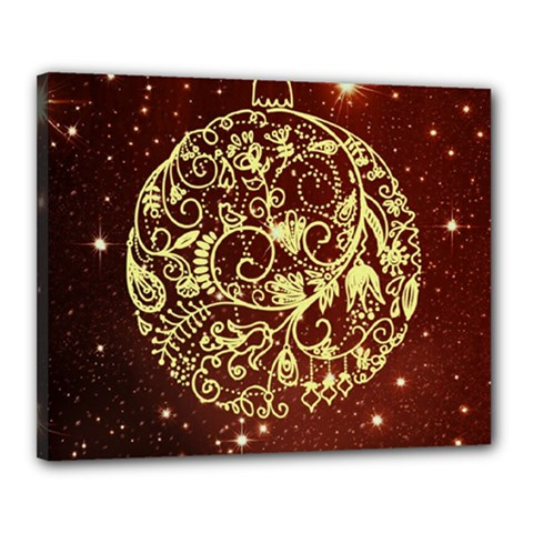 Christmas Bauble Canvas 20  x 16