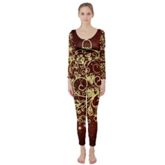 Christmas Bauble Long Sleeve Catsuit