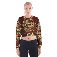 Christmas Bauble Women s Cropped Sweatshirt