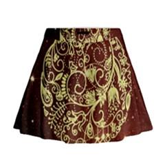 Christmas Bauble Mini Flare Skirt