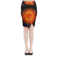 Christmas Card Ball Midi Wrap Pencil Skirt