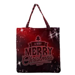 Christmas Contemplative Grocery Tote Bag