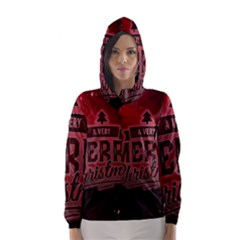 Christmas Contemplative Hooded Wind Breaker (Women)