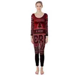 Christmas Contemplative Long Sleeve Catsuit