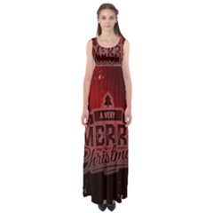 Christmas Contemplative Empire Waist Maxi Dress