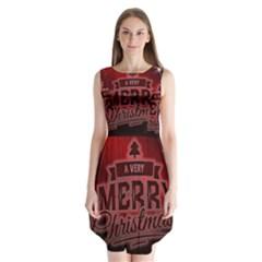 Christmas Contemplative Sleeveless Chiffon Dress