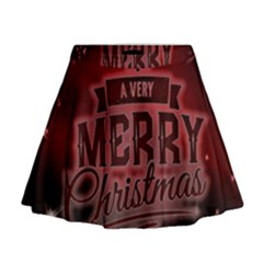 Christmas Contemplative Mini Flare Skirt