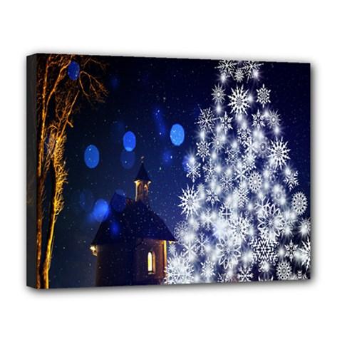 Christmas Card Christmas Atmosphere Canvas 14  x 11