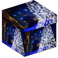 Christmas Card Christmas Atmosphere Storage Stool 12